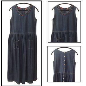 Maxi Denim Jean Dress by Donna Scott